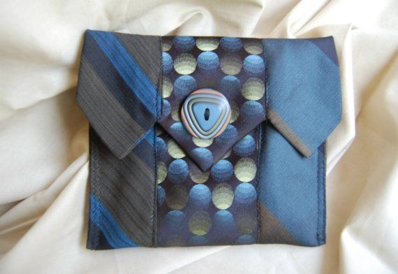 Awesome clutch made from upcycled ties.  make for a man.