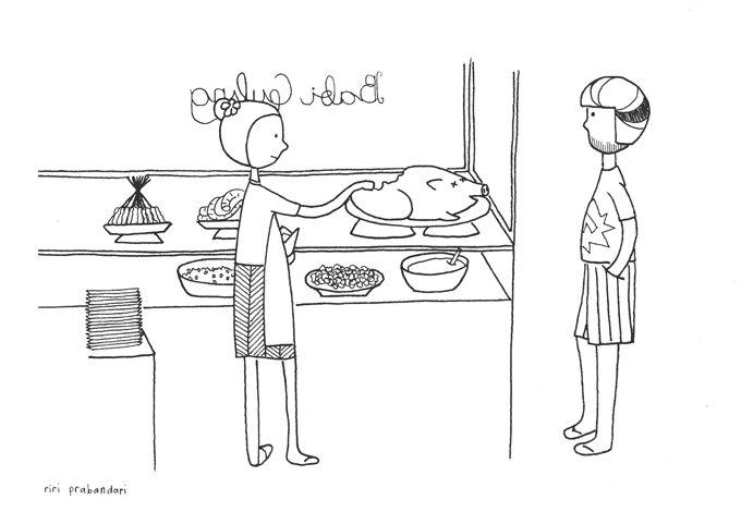 babi guling (suckling pig) #illustration