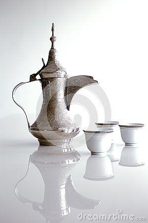Dallah бак металла конструированный для делать арабский кофе