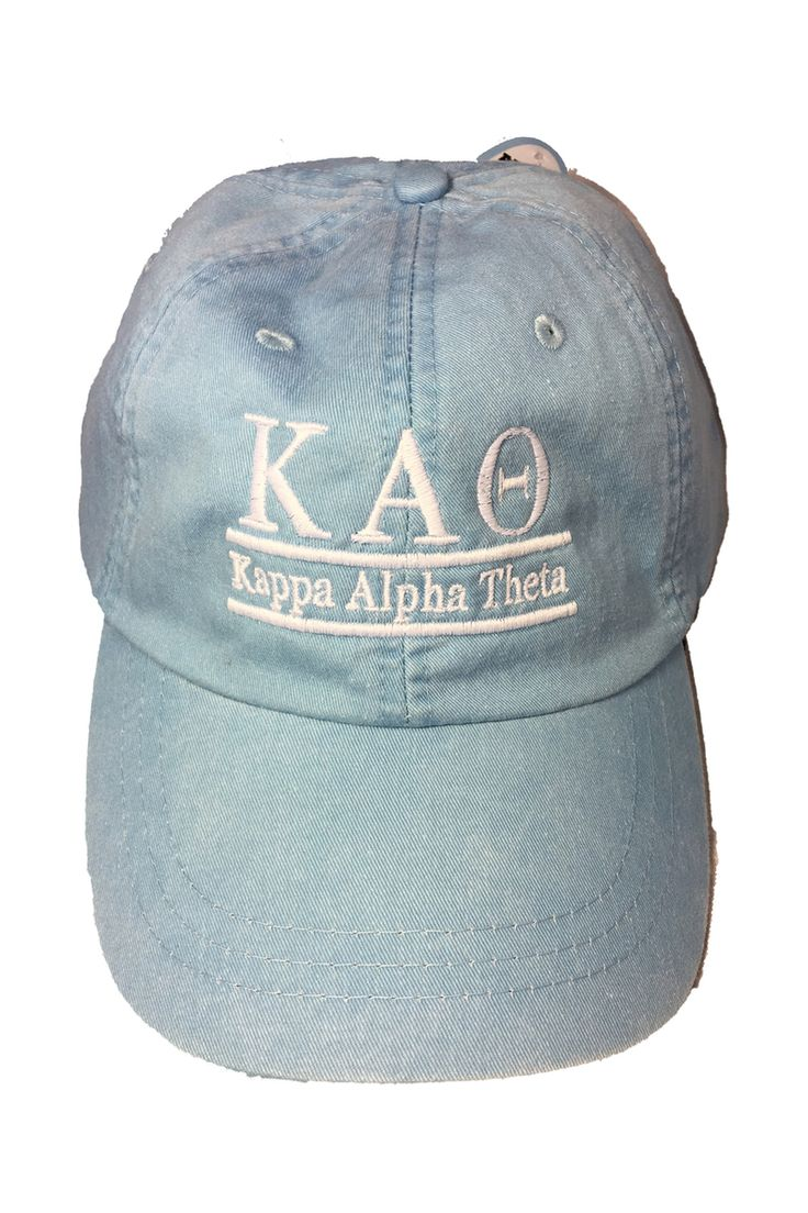 Kappa Alpha Theta Sorority Hat- Baby Blue - Brothers and Sisters' Greek Store