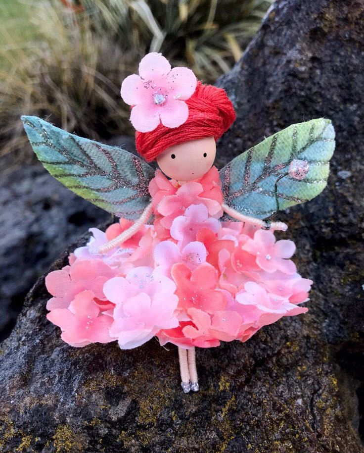 Excited to share the latest addition to my #etsy shop: Coral Pink Flower Fairy Doll, Bendy Fairy Doll, Fairy Gift Ideas, Nature Lover Gifts, Enchanted Forest, Fairy Princess Doll, Rag Fairy Doll