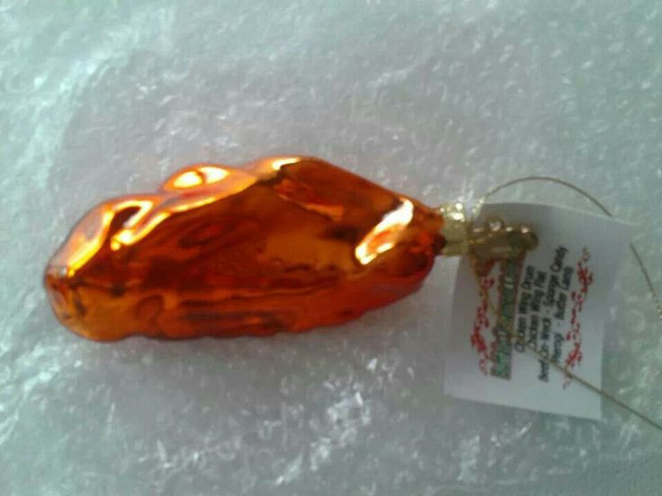 Chicken wing christmas ornament from buffalo adore