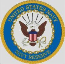 Cross Stitch Chart Pattern of the US Navy Reserve