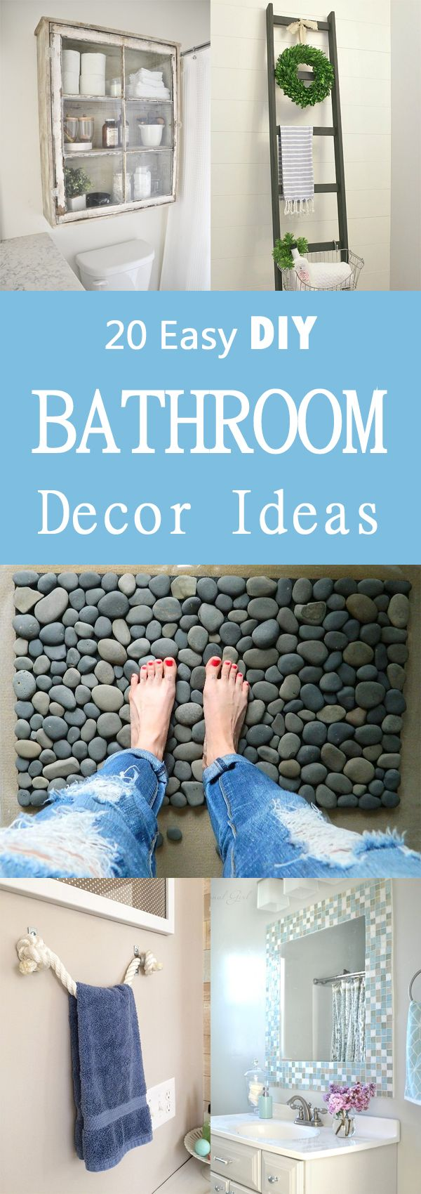 Bathroom diy decorations - 20 Easy Diy Bathroom Decor Ideas
