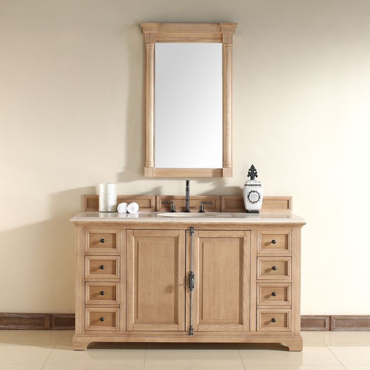 Image On Providence inch Bathroom Vanity Natural Oak Finish Tropical Brown Marble Top with Backsplash u Undermount Sink