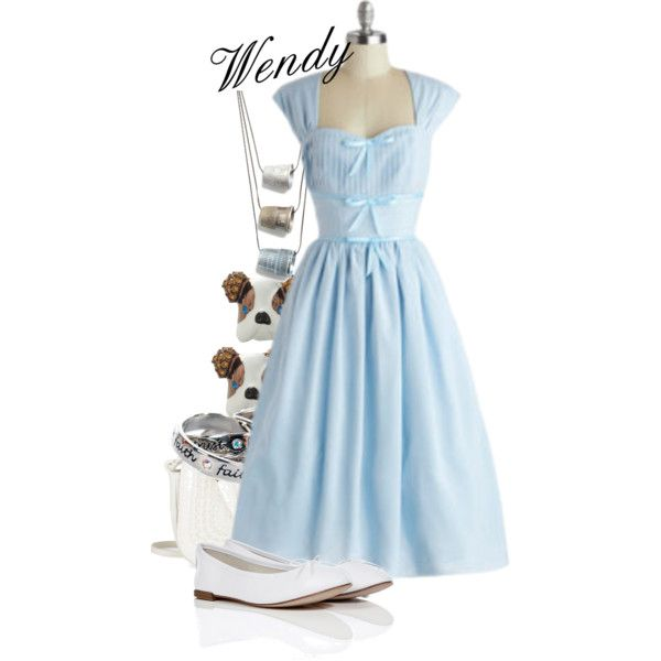 Wendy Darling by polyspolyvore on Polyvore featuring polyvore, fashion, style, Repetto, Disney Couture, Betsy