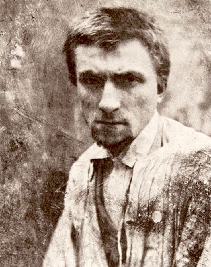 The sculptor Auguste Rodin in 1862, age 22. Photograph by Charles Aubrey.