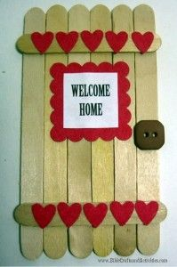 Welcome Home Prodigal Son Craft Stick Door Free printable for door sign and scripture verses www.BibleCraftsandActivities.com