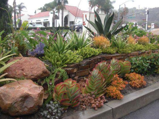 Landscape Boulders Orange County Ca : Front yard gardens called san clemente s best rock garden design and club ideas