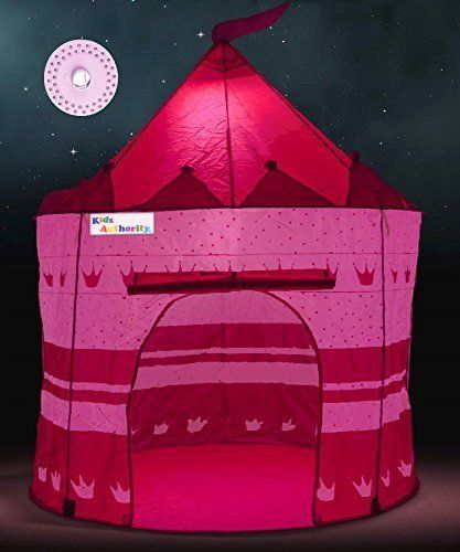Pretty Princess Castle Play Tent for Girls – Includes LED Lamp & Glow in the Dark Stars – Multipurpose Indoor/Outdoor Kids Tent and Lit Playhouse – CPSIA Compliant. For product & price info go to:  https://all4hiking.com/products/pretty-princess-castle-play-tent-for-girls-includes-led-lamp-glow-in-the-dark-stars-multipurpose-indoor-outdoor-kids-tent-and-lit-playhouse-cpsia-compliant/