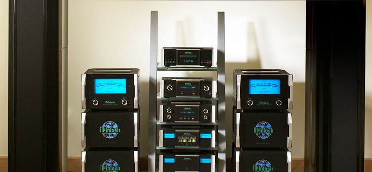 McIntosh Reference Audio System 2 Channels, Most Powerful Home Speaker System, 3 Chassis Mono Power Amplifiers OVERKILL
