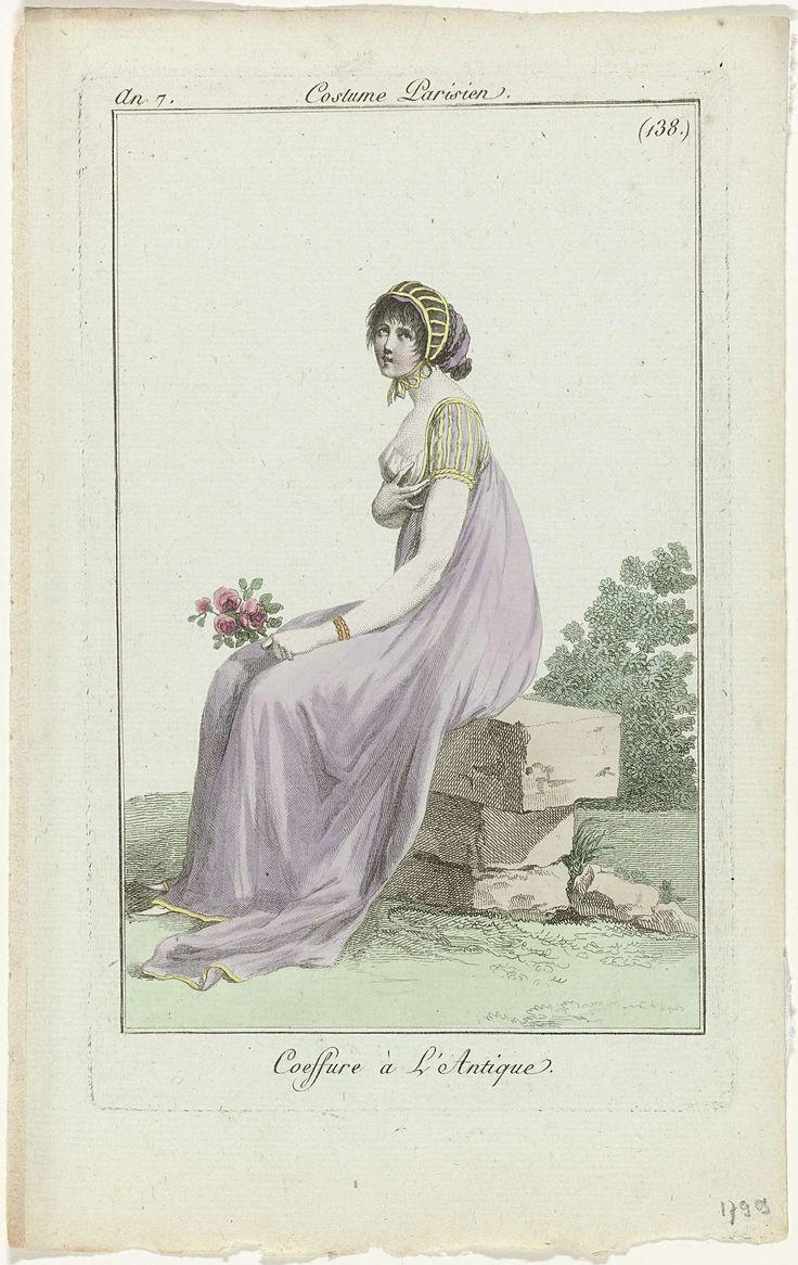 Journal des Dames et des Modes, Costume Parisien 1799, An 7, (138.) : Coeffure à l'Antique., Anonymous, 1799