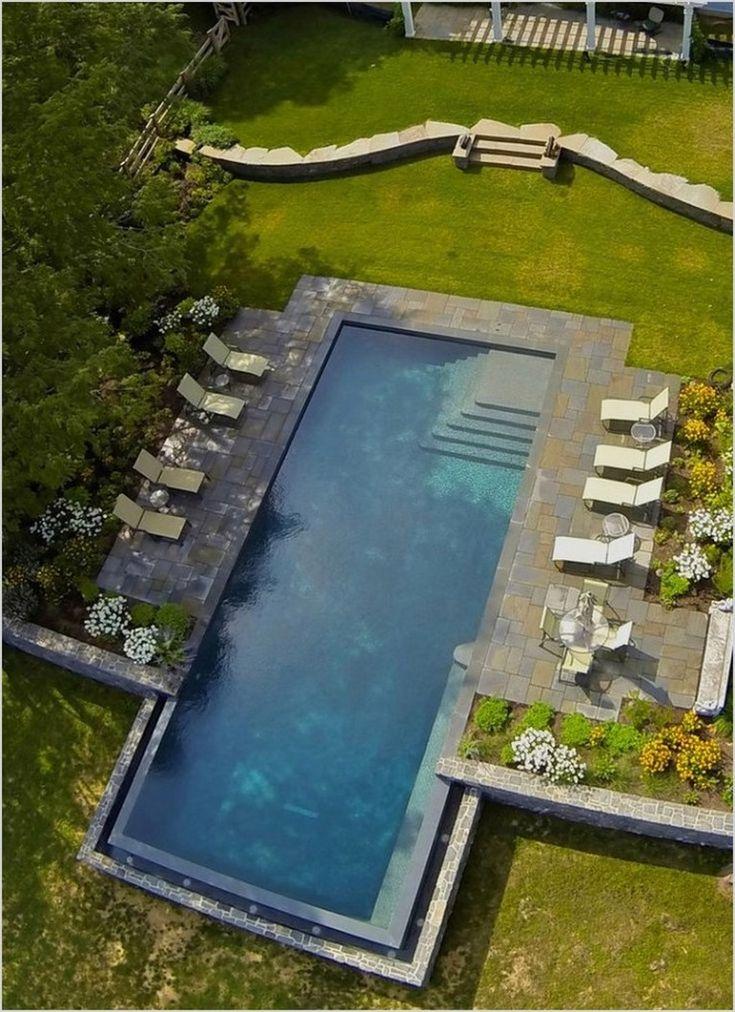 35+ idéias de paisagismo retângulo piscina emocionante   – Pool