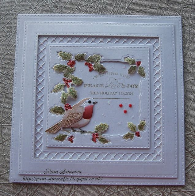 Good morning friends, followers and visitors, welcome to new followers and thank you for joining me.       Trying to make Christmas cards ...