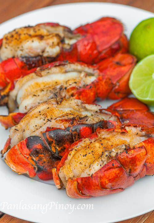 Grilled Lobster Tails are perfect for lunch on a warm summer day. It is quick and easy to make and it is delicious. I love to have grilled lobster tails with a cold glass of lemonade (or Chardonnay, sometimes) – I think that this combination is refreshing.