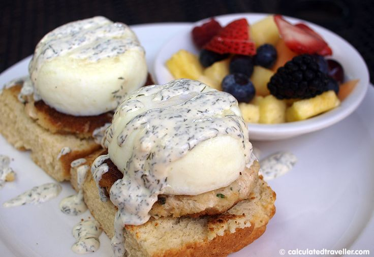 James Island Benedict from Lowcountry Backyard Restaurant in Hilton Head Island SC. Review by Calculated Traveller