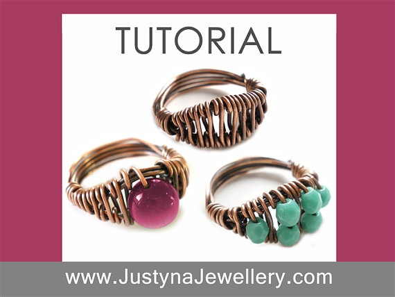 Wire Ring Tutorial  3 Fantasy Rings by JustynaJewellery on Etsy, $5.00