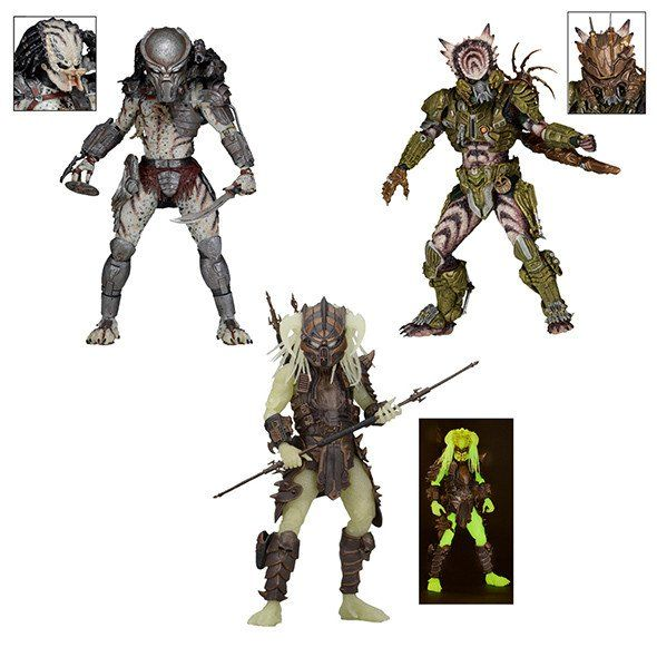 Predator - 7″ Scale Action Figure SET - Ghost, Spiked Tail & Stalker -  Series 16 Assortment - NECA 51532