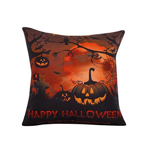 Ikevan Halloween Sofa Bed Home Decor Pillow Case Cushion Cover18 x 18 C >>> Details can be found by clicking on the image.Note:It is affiliate link to Amazon.