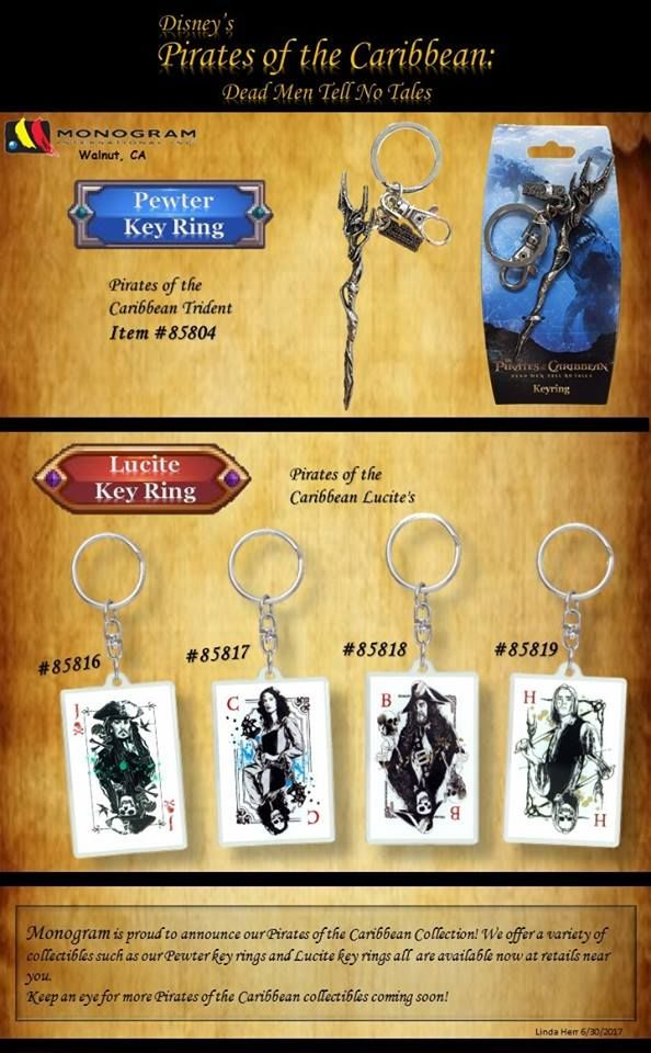 Pirates Of The Caribbean: Dead Men Tell No Tales Keychains Out Now