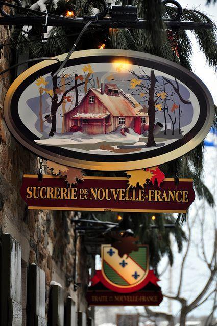 Christmas in Quartier du Petit Champlain, Quebec, Canada