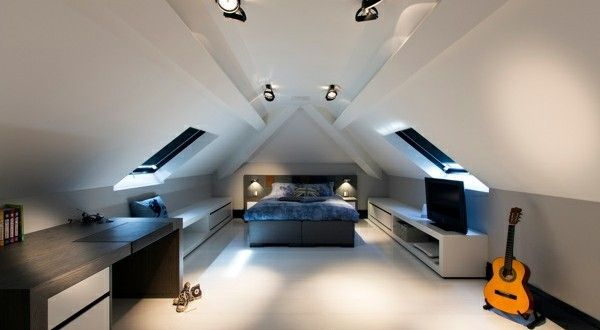 schlafzimmer im dachgeschoss 25 coole designs live modern pinterest design. Black Bedroom Furniture Sets. Home Design Ideas