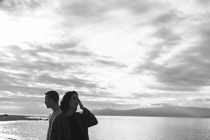 Black and White Portrait Engaged Couples session Vancouver // Dramatic // Sky // Love // Couple Goals // Muskoka Wedding Photographer ©Eleanor Dobbins Photography