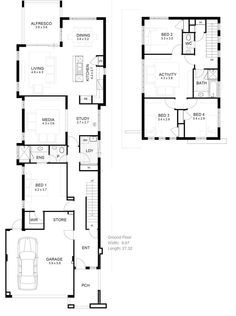 narrow house designs on odd shaped blocks - Google Search