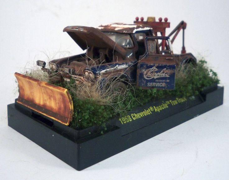 1958 Chevrolet Apache Tow Truck Custom Weathered Barn Find 1 64 Diorama M2 OOAK CastlineM2MachinesAutoTrucks 1958ChevroletChevyApacheTowTruck