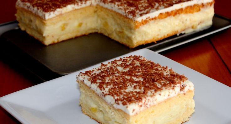 Tejszínes-banános kocka recept | APRÓSÉF.HU - receptek képekkel
