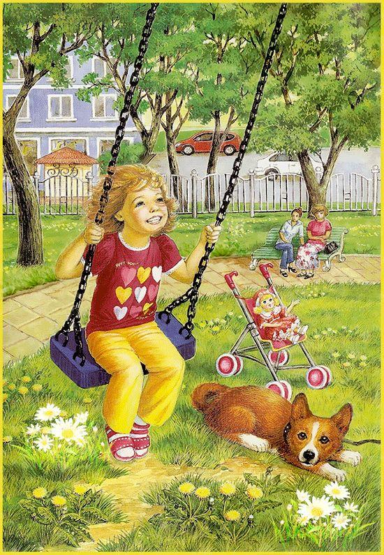 Картинка с летом для детей, пеликана