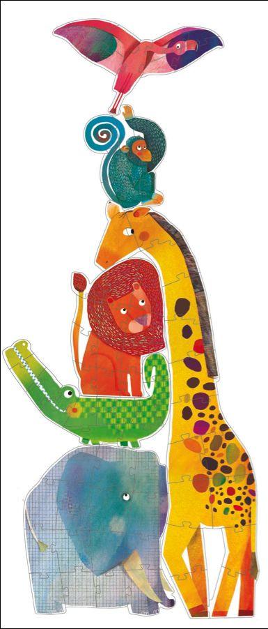 Djeco 6 stoere dieren puzzels Elvis 3j #Puzzle #Animals #Zoo from http://www.kidsdinge.com  https://www.facebook.com/pages/kidsdingecom-Origineel-speelgoed-hebbedingen-voor-hippe-kids/160122710686387?sk=wall    http://instagram.com/kidsdinge