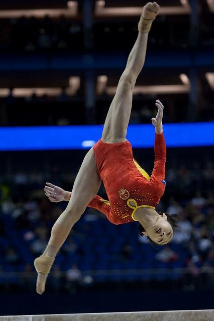 deng linlin china gymnast all around 41st artistic gymnastics world wag london balance beam