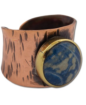 SoulFlower-NEW! Copper & Lapis Ring