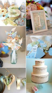 Destination Wedding Ideas - Map Themed Wedding Decor | OneFabDay.com Ireland