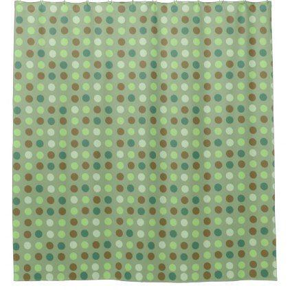 green brown  eggs on green shower curtain - shower curtains home decor custom idea personalize bathroom