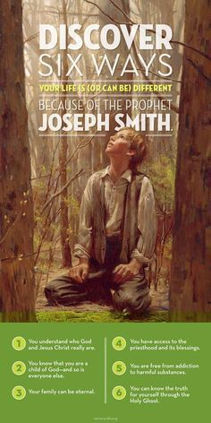 What happened one morning in a grove with a humble prayer of faith changed the world. Let it change your life! http://pinterest.com/pin/24066179229093091 The Prophet Joseph Smith's http://facebook.com/217921178254609 first vision http://josephsmith.net/article/the-first-vision and remarkable life has significantly impacted the human family, but what has it meant for you personally? Learn more http://lds.org/new-era/2015/04/because-of-joseph and #passiton.