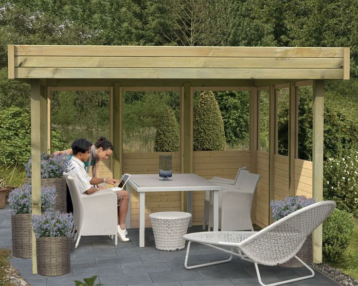 Les 17 meilleures images concernant abris pergolas for Pavillon de jardin moderne