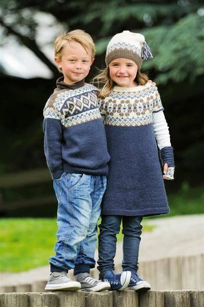 finfin strikkegenser til gutta