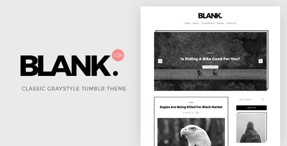 Blank | Gray-style Classic #Tumblr Theme