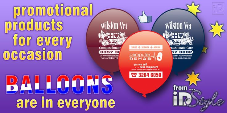 BALLOONS! Did you know we sell balloons? www.iDPromoProducts.com