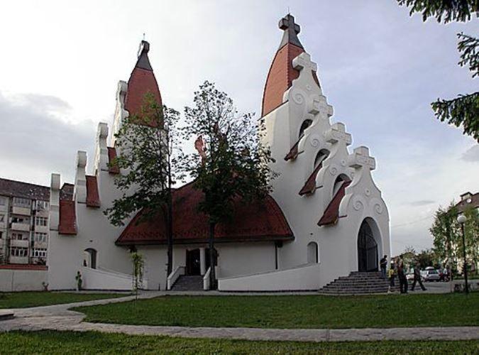 Templo en Csíkszereda, Transilvania Rumanía.