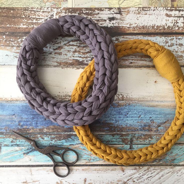 crochet neckless t-shirt yarn