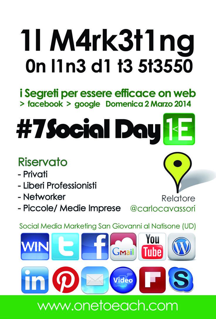 Laboratorio #socialmediamarketing  2Marzo SanGiovAlNat #7socialday Il #marketing on line di te stesso by @Carlo M Cavassori