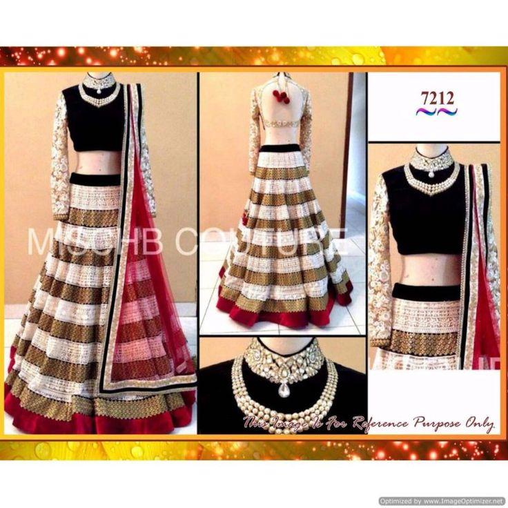 Piramalls New Arrial Black & White Designer Net Lehenga Choli