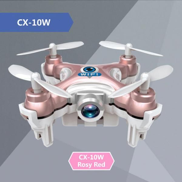 CX-10W Mini Spy Drone With Camera    Type: HelicopterFeatures: Remote Control,Shatter ResistantAge Range:  8+State of Assembly: Ready-to-GoPackage Includes: USB Cable,Charger,Original Box,Camera,Ba