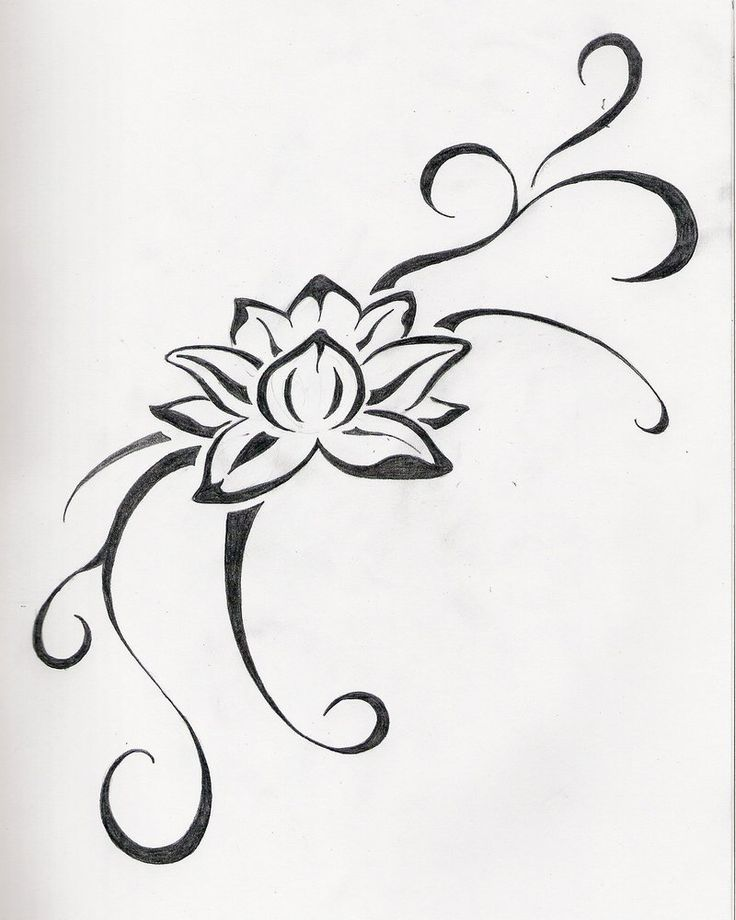 small lotus flower tattoo | Jane TattooGallery: flower tattoo by June Fowler