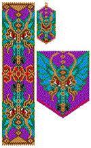 Dragon, Ruffled and Unruffled, Set Bead Pattern by Elizabeth Ann Scarborough
