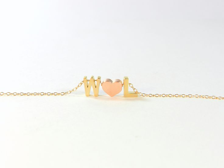 customizable sweetheart necklace from bip & bop {love these}