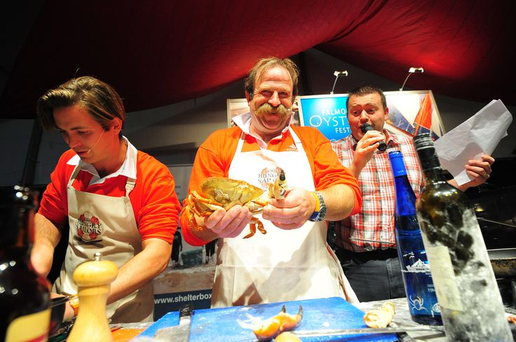 Dick and James Strawbridge on stage at 2012 Falmouth Oyster Festival http://www.falmouthoysterfestival.co.uk #falmouth #oyster